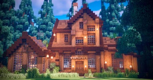 minecraft wooden mansion tutorial woods medieval houses builds cabin impressive build base nice casa spruce cottage survival madera plans kaua