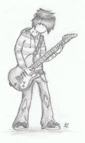 playing sketch guitar drawing guy drawings boy boys sad sketches deviantart anime pencil emo draw google animal holding vector try