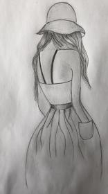drawing sketches drawings pencil easy di cool simple sketch girly