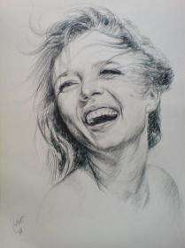 happy drawing realistic sketch pencil deviantart drawings sketches portrait amir portraits face female hair colorful things