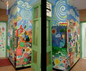 murals wall painting mural hallways library schools elementary sunday colorful decorations bedroom diy classroom easy ecole educational decor projects finished