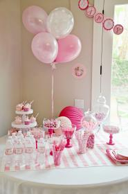birthday party princess themes parties themed table barbie olds pink toddler