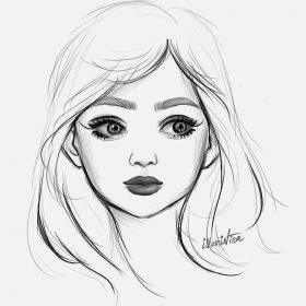 pencil drawing sketch draw sketches easy face drawings simple faces step realistic cartoon portrait anime girly profile dark instagram portraiture