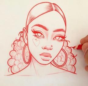 drawing sketches drawings pencil cool face sketch faces hair inspiration lee