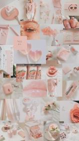 peach aesthetic cute wallpapers backgrounds bts pastel