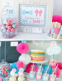 reveal gender party baby decorations shower printable parties themes partyideapros boy food showers country supplies