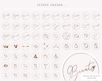 rose highlight icons glitter pretty icon covers highlights pixie icone blogpixie stories vendido produto