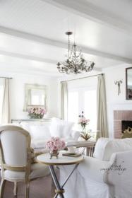 cottage country french decorating chic frenchcountrycottage elegant shabby farmhouse tour rustic homes california countrycottage romantic ruffled feathered nest friday pillows