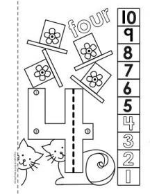 Dot to Dot Number Book 1 10 Activity Coloring Pages