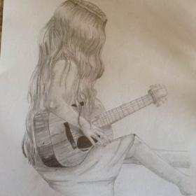 guitar drawing pencil playing sketch drawings sketches doodle inspiration sketching getdrawings elenna roybal via