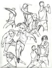 Fighting poses practice by dancingjokeRR Fighting poses