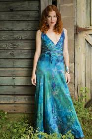 bride mother beach boho silk dresses etsy planet gowns regular hairstyles hair ball sold