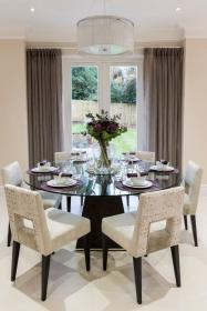 dining table round decorative transitional french decor decorating glass tables square modern dinning contemporary area wooden homedit designs