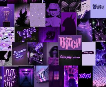 collage purple aesthetic neon pcs wallpapers iphone tezza backgrounds bad macbook pretty phone