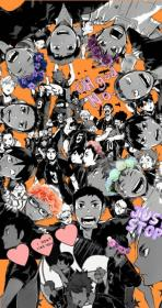haikyuu collage anime wallpapers phone wattpad aesthetic collages characters karasuno volleyball hinata cool fondos hq circle wings imagines leerlo fave