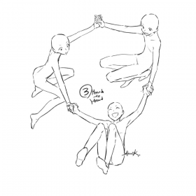 drawing anime base poses reference pose friends draw manga bases squad three references trio dibujo drawings dibujos friend practica sketch