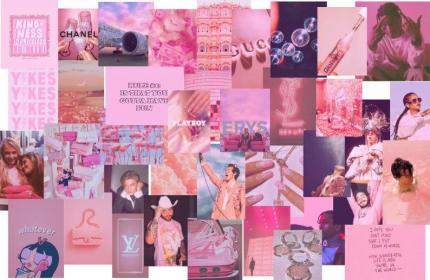 aesthetic collage kit pcs laptop computer desktop wallpapers pc backgrounds macbook leonardo dicaprio ariana girly grande harry chill malone travis
