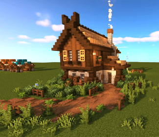 nordic minecraft houses botcraft blueprints cottage mansion