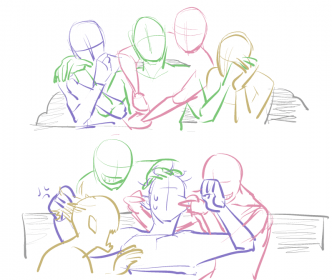 poses reference drawing drawings friends base body some