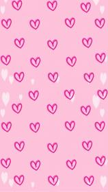 heart pink background iphone fondos girly wallpapers hearts phone cute backgrounds pattern valentine trendy discover