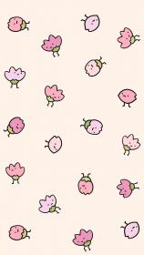 kawaii strawberry fondos pastel iphone patterns wallpapers tiny pantalla backgrounds cartoon drawing whatsapp phone weheartit heart lovely sweets verde papel