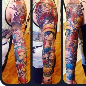 anime tattoo arm tattoos olivier imgur piece mtl inspired designs cool amazing super mega wolf montreal ace ink