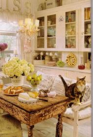 shabby chic decor kitchen rustic cozy romantic decorations table uploaded user interiors garden sweet