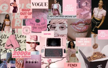 aesthetic pink wallpapers backgrounds iphone cute macbook friends fendi invite