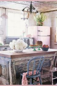 chic shabby rustic kitchens farmhouse shabbychicscrapbook chandeliers cottage