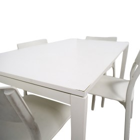 second hand ikea white kitchen table and chairs
