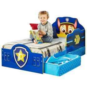 patrol paw bed mdf chase toddler drawers official decorated storage toxic panels wood paint paints included non cot