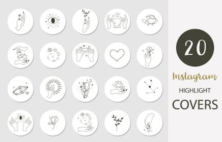 highlight instagram magic vector premium icon icons boho rose hand social symbols save