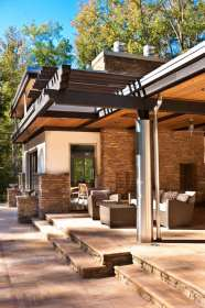 patio roof porch designs modern stone backyard pergola outdoor contemporary blueprints drawings plans hgtv exterior shade structures decorating existing attached