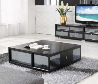 Bewitching Black Color to Tables For Living Room with Glass Accent plus Low Design