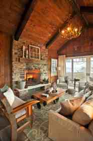 rustic lake designs chic cabin living traverse warm houses cozy bay grand lodge kp interior porch homes interiors rooms inviting
