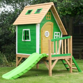 Garden Games 8ft x 5ft 2 43m x 1 52m Whacky Tower Wooden Playhouse A SS 1