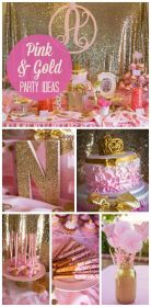 Girls Pink And Gold Party Theme Pictures, Photos, and