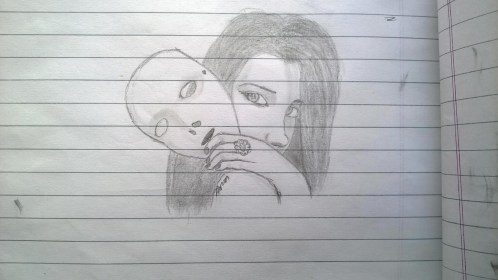 drawing pencil mask sketch painting
