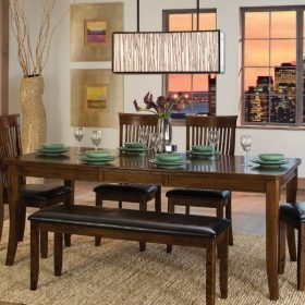 dining table room bench tables wood seat modern decor simple homelegance kitchen furniture composite alita extending cherry warm rectangular chairs