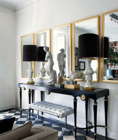 console gold modern table mirrors tables entryway decorate living mirror foyer decorating ways decor entrance rooms furniture way lamps contemporary