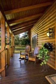 porch cabin log rustic front homes porches cabins river wooden florida around wrap suwannee wood deck decks kits exterior patio