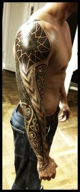 arm tattoo tattoos blackwork ink skin designs shoulder cool guys outer example