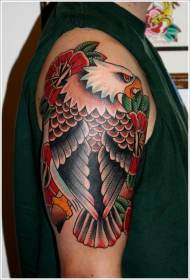 eagle tattoo tattoos designs traditional american sleeve shoulder half arm myke chambers colored right grabbing flag skull sleeves eagles bald