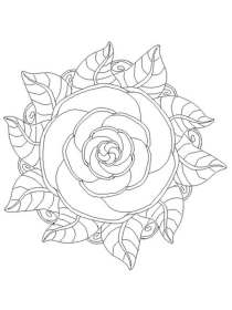 Flower Mandala Coloring Free Flower Printable Coloring Pages For Adults Novocom Top