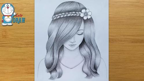 drawing pencil sketch hair draw easy pretty sketches step drawings simple should anime