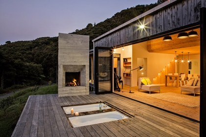 country living zealand david maurice open plan terrace space landscape architectural architect