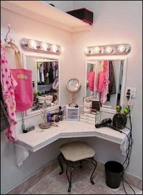 vanity makeup decor beauty bedroom corner room salon decorating diy creative hair theme themes bedrooms decorations themed bathroom gorgeous awesome