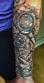 compass tattoo arm tattoos sleeve rose designs forearm mens male guys nextluxury grey exploration inspiration guide half ll traditional ink