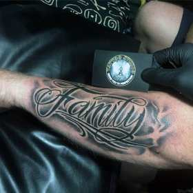 tattoos tattoo forearm designs cool male font forarm mens sleeve text wrist arm ink forearms commemorative inner nextluxury fonts names