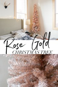 rose gold christmas tree decor decorations ornaments holiday samantha decided turned ll think amazing go tinsel pencil